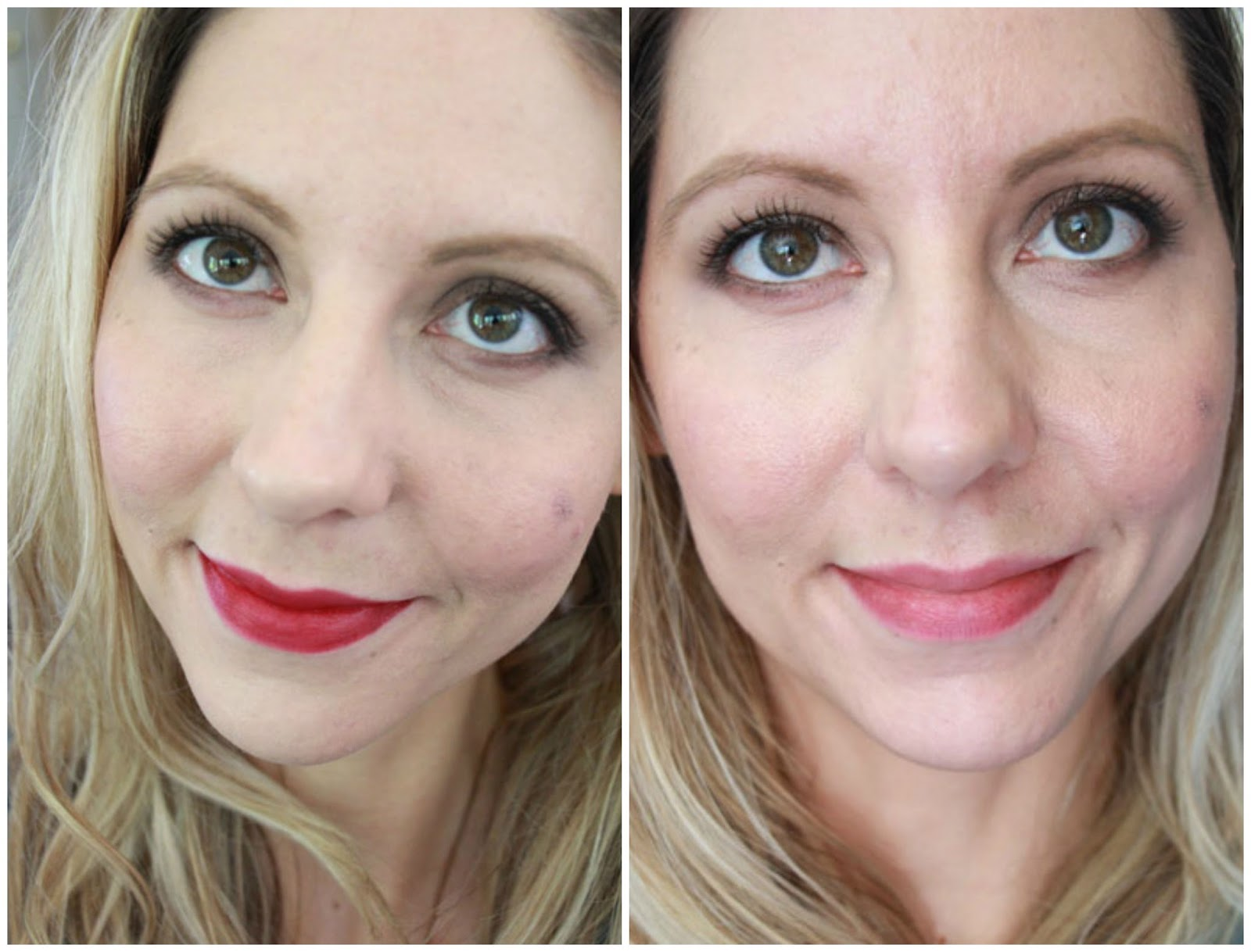 too faced concealer before and after. freshly applied (different day from above) \u0026 4 hours later w/out touchups (looks shinier in person) too faced concealer before and after f